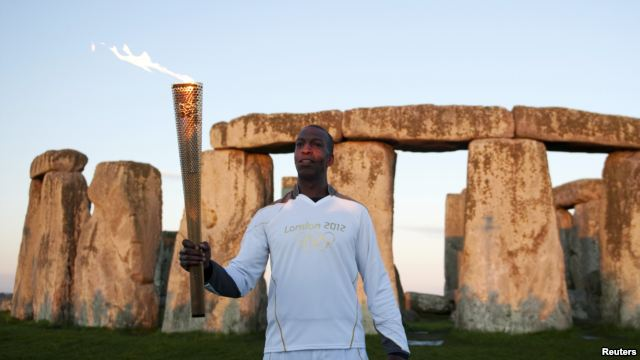 Stonehenge is still a place of ceremony. Last year, Michael Johnson was photographed with the Olympic torch at the stone circle before the London Olympic Games.